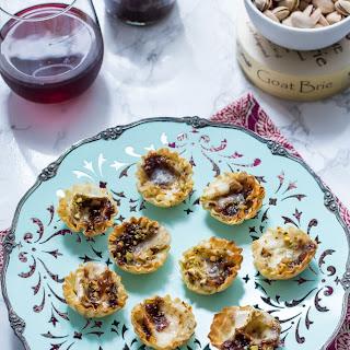 Brie Fig and Pistachio Bites