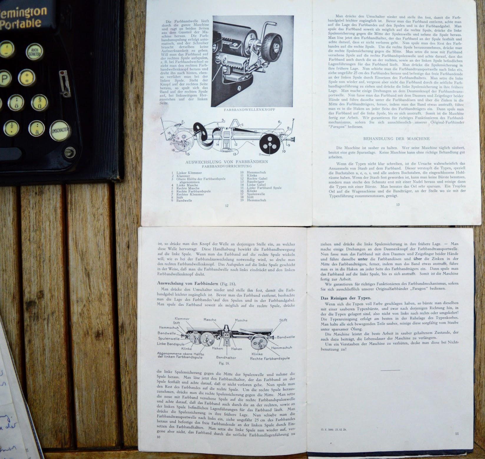 Remington Portable - Gebrauchsanweisungen