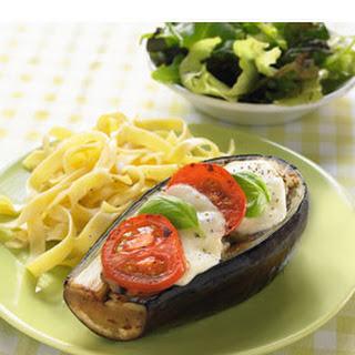 Aubergines Uit De Oven Met Tomaat En Mozzarella