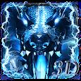 3D Thunder ice dragon theme icon