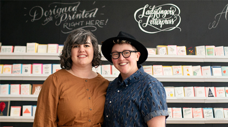 A mom-and-mom card shop draws from experience