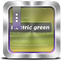 Electric green GO SMS icon