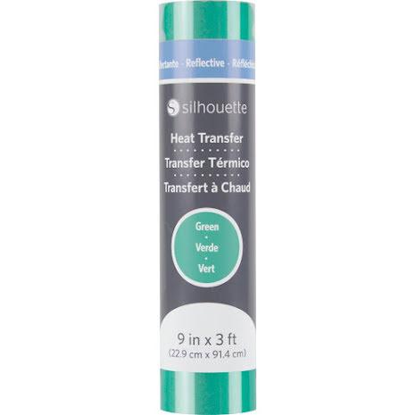 Silhouette Reflective Heat Transfer 9X3 - Green
