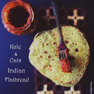 Kale and Oats Indian Flatbread.