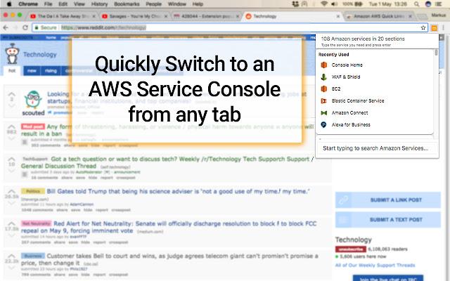 Amazon AWS Quick Links