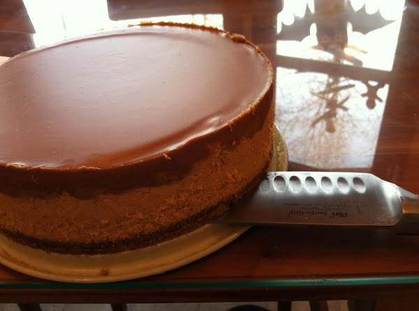 Let the cheesecake sit in the freezer for at least one hour.  To...