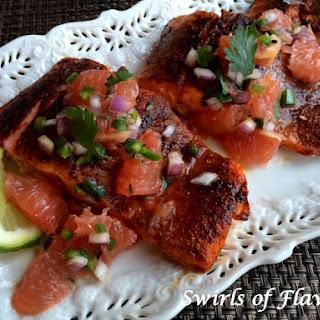 Ancho Salmon With Grapefruit Salsa