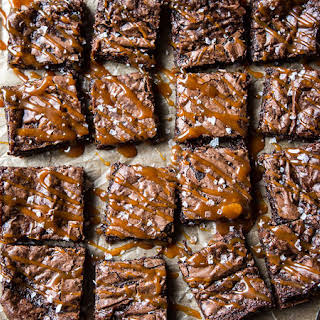 Bourbon Salted Caramel Fudge Brownies.