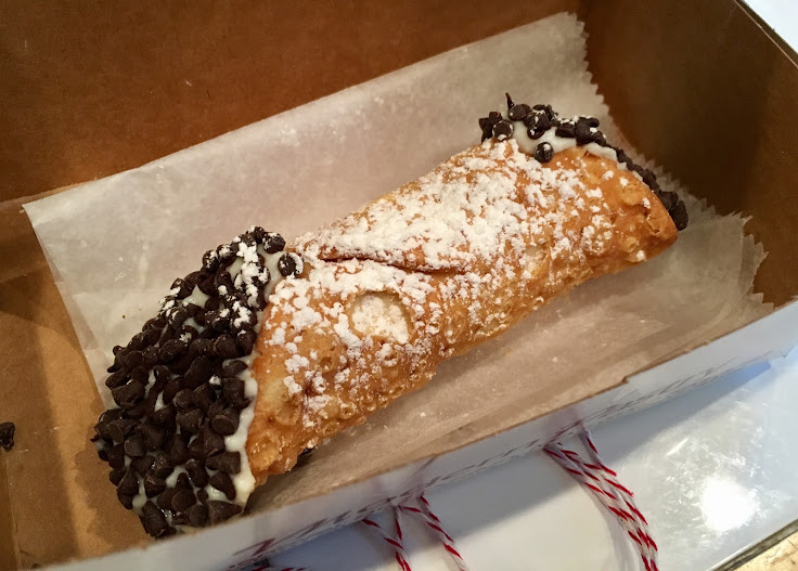 The chocolate chip cannoli from Modern Pastry.