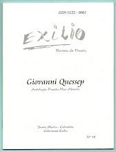 Photo: Giovanni Quessep. Antología Poesía Mar Abierto.  Revista Exilio No. 15, Octubre 2005.  Edición virtual NTC ... http://ntcpoesia.blogspot.com/2011_01_14_archive.html