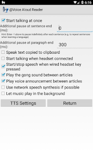 @Voice Aloud Reader: miniatura de captura de pantalla