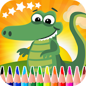Crocodiles Coloring Book
