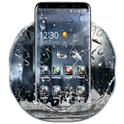 3D Rain Broken Glass Theme