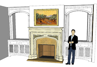 Photo: Family room with a full Pugin mantel