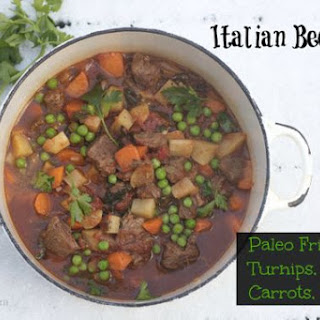 Homemade Italian Beef Stew with Wine, Paleo Friendly, Grain Free