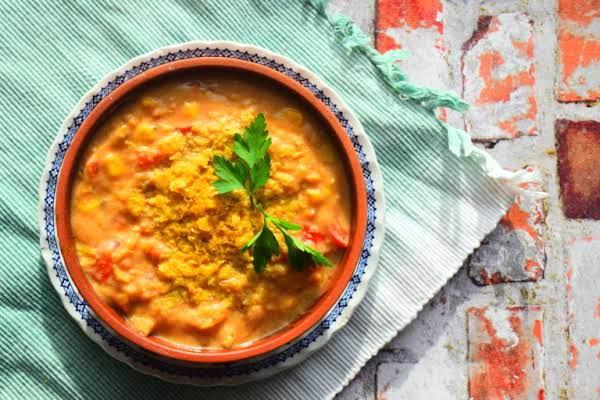 Vegetarian Spiced Lentil Soup Recipe