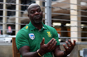 Proteas head coach, Ottis Gibson during the South African national cricket team media briefing at Westin Hotel on May 14, 2019 in Cape Town, South Africa.