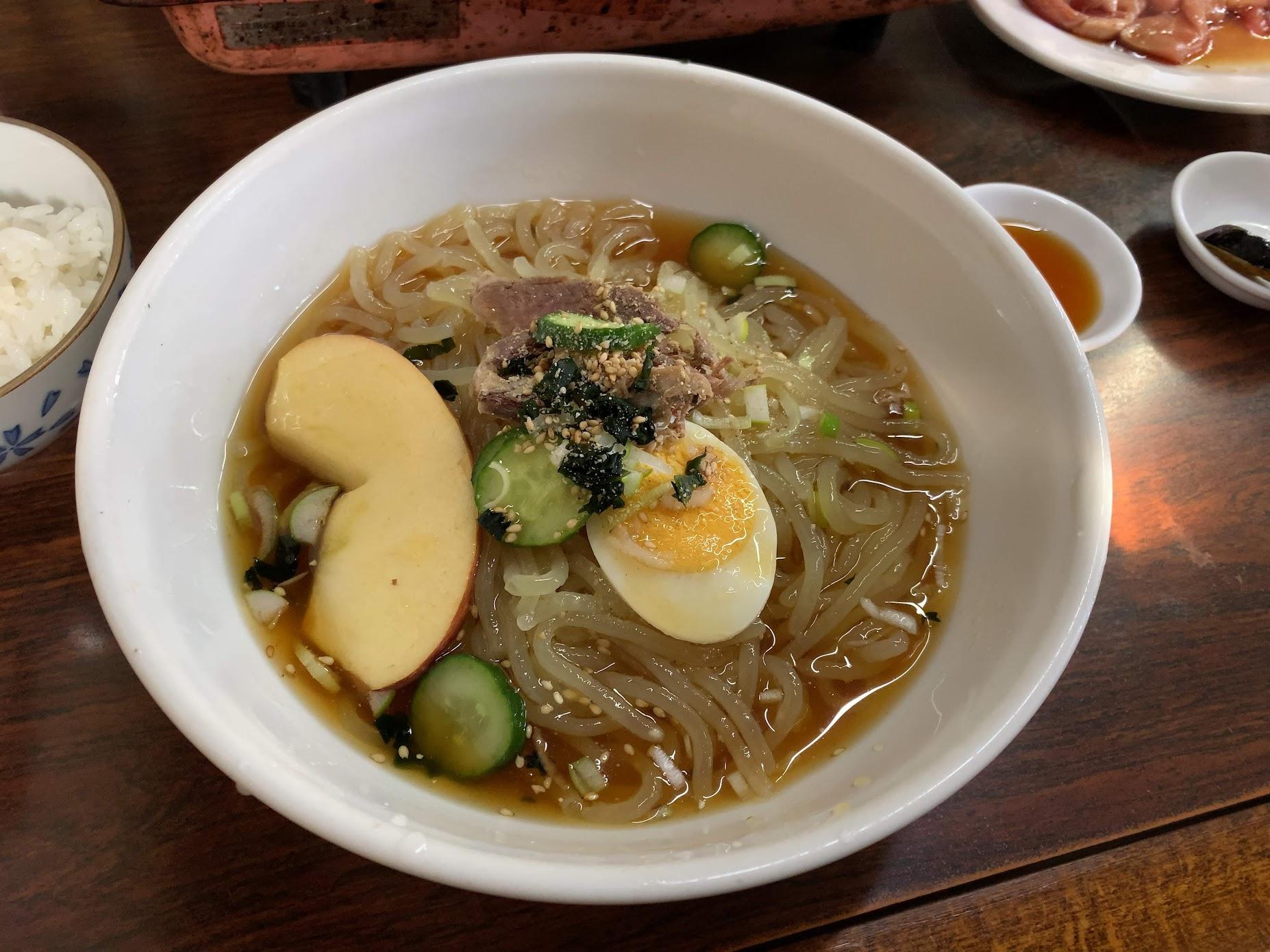 2020年四大麺7杯目 もりしげ 焼肉・冷麺セット