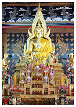 Photo: Golden Buddha  Photographed in Wat Pantong temple in the city of Chiang Mai, Thailand. Very tranquil, peaceful & calming inside.