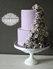 Photo: EDITOR'S CHOICE 1/12/2012  Romantic Ruffles by Three Little Blackbirds (TLB Cakes)  View cake details here: http://cakesdecor.com/cakes/4439 View all cakes by Three Little Blackbirds: http://cakesdecor.com/TLBCakes/cakes