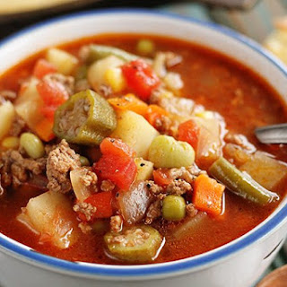 Quick and Easy Vegetable Beef Soup.