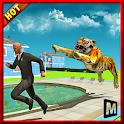 Vingança irritada cidade tigre