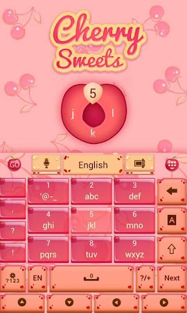 Cherry Sweet GO Keyboard Theme 3.87 screenshot 1282610