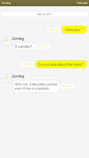 Faketalk - Chatbot Screenshot