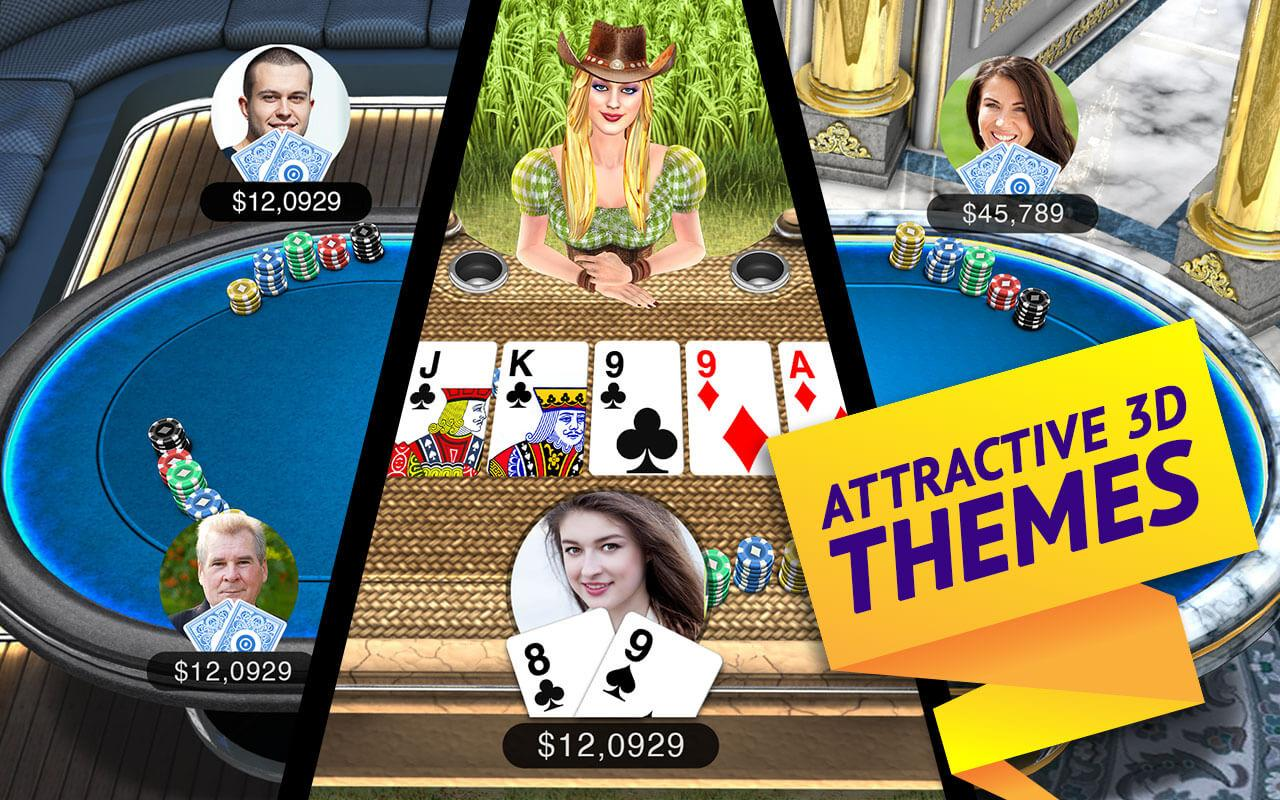 Poker Live! 3D Texas Hold'em- screenshot