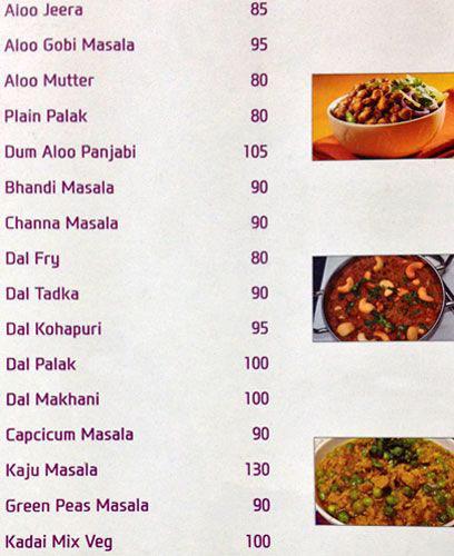 Udupi Grand menu 7