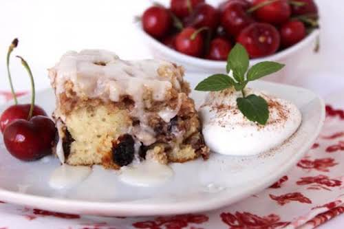 "Click Here for Recipe: Cherry Pecan Cinnamon Roll Cake ""I've made this..."