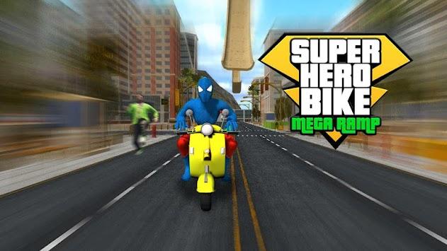 Super Hero Bike Mega Ramp