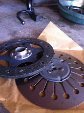 Photo: New clutch friction plate and spring.