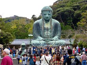 Photo: Most enormous bronze Buddha (Daibutsu, Kamakura)