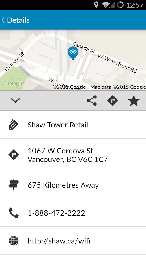 Shaw Go WiFi Finder- screenshot
