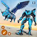 Flying Rhino Robot Transformation: Robot Shooting icon