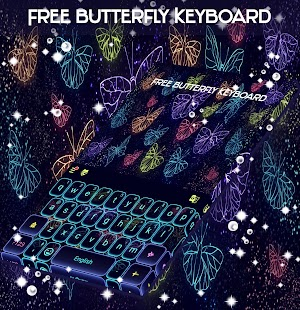 Free Butterfly Keyboard - náhled