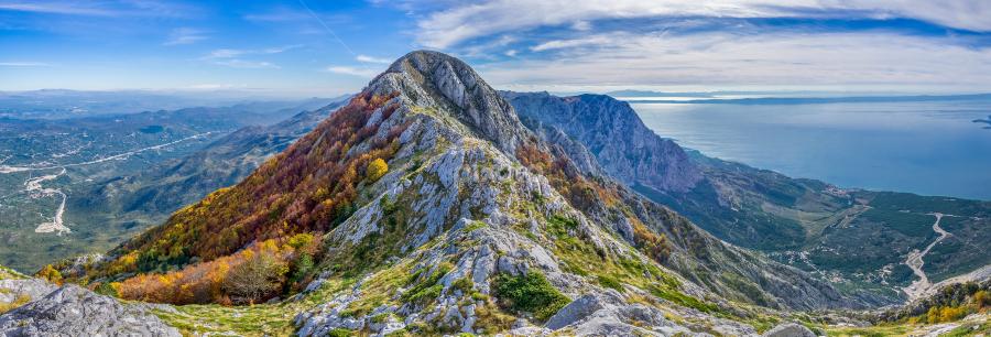 Biokovo mountain panorama by Stjepan Jozepović - Landscapes Mountains & Hills ( clouds, mountains, sky, croatia, landscape, biokovo, panoramic )