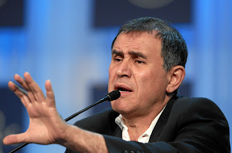 Photo: DAVOS/SWITZERLAND, 28JAN12 - Nouriel Roubini, Professor of Economics and International Business, Leonard N. Stern School of Business, New York University, USA; Global Agenda Council on Fiscal Crises speaks during the session 'Pundits, Professors and their Predictions' at the Annual Meeting 2012 of the World Economic Forum at the congress centre in Davos, Switzerland, January 28, 2012.  Copyright by World Economic Forum swiss-image.ch/Photo by Moritz Hager