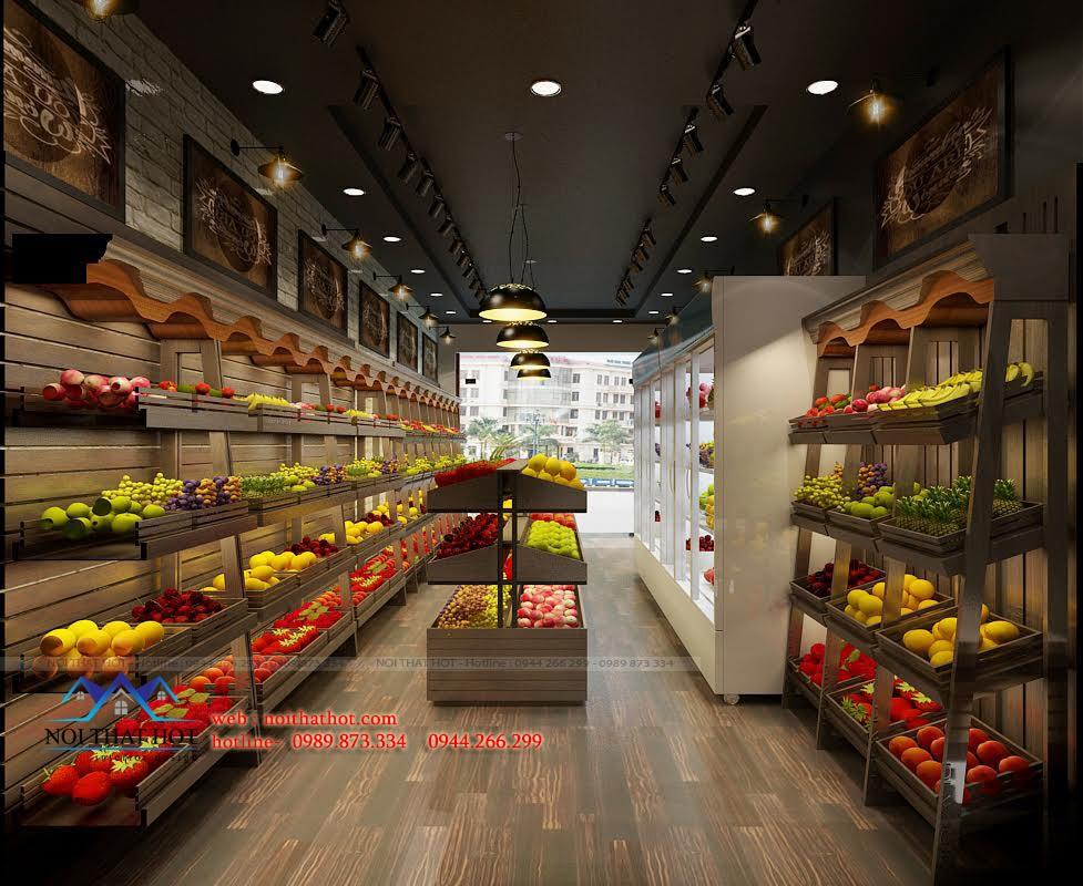 Thiết kế cửa hàng bán hoa quả rẻ