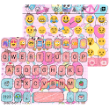 Pink Pop Emoji Keyboard Wallpaper icon