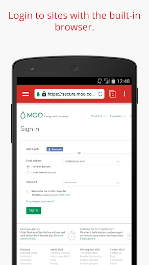 Screenshot 5 for LastPass's Android app'