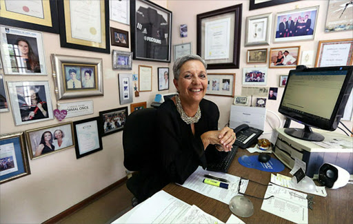 Michelle Brown in her office at home