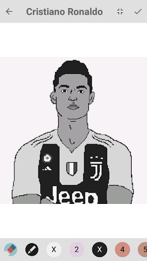 Cristiano Ronaldo Pixel Color By Number Neymar Apk