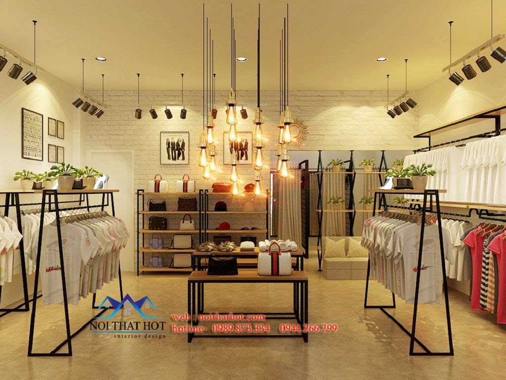 thiết kế cửa hàng thời trang nữ chuyên nghiệp