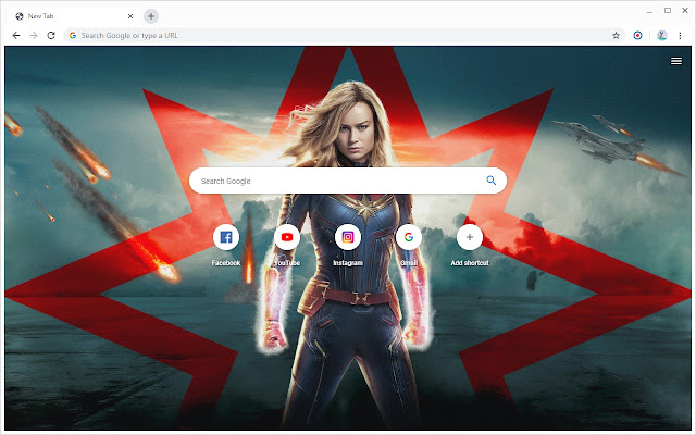 New Tab - Captain Marvel