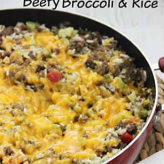 One-Pot Beefy Broccoli Rice.