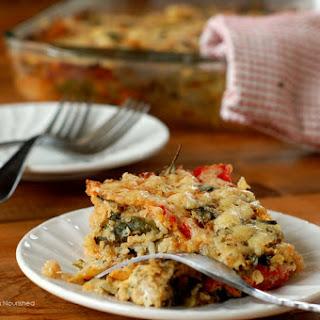 Parmesan Baked Veggie Quinoa