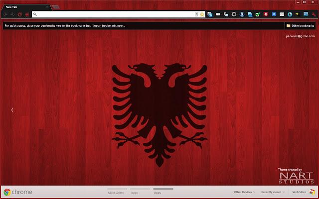 albanian wood theme internetový obchod chrome