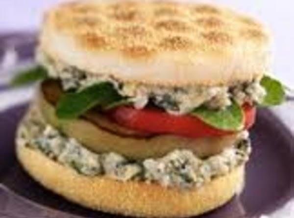 Eggplant Sandwich With White Bean Recipe